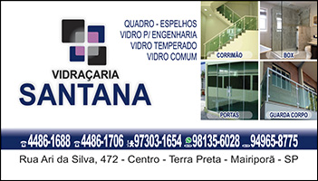 Santana Vidraçaria em Mairiporã